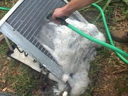 how to clean outdoor ac condenser
